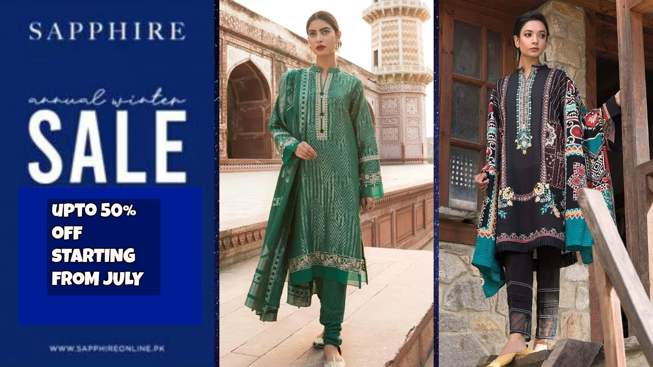 Sapphire Sale Upto 50% off on Summer Collection July