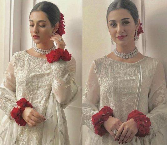 Pakistani Drama Actress Sarah Khan Walima Pictures 2020