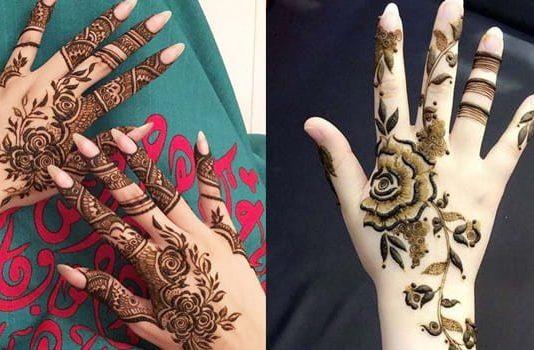 Rose Style Mehndi Designs