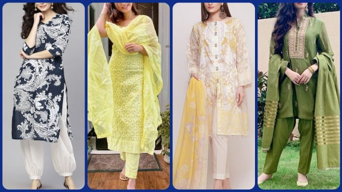Beautiful Jacket Style Shalwar kameez designs in 2021