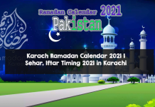 IFTAR Timing in Ramzan in Pakistan 2021