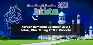 IFTAR Timing in Ramzan in Pakistan 2021