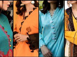Lawn Dresses New Neck Designs in Pakistan 2021